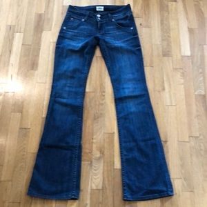 Hudson Bootcut Jeans with Button Pocket Back